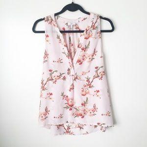 Joie | Silk Floral Blouse Blush pink Large